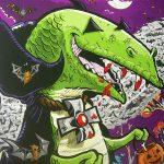 Dino Drac Halloween Prints for sale!