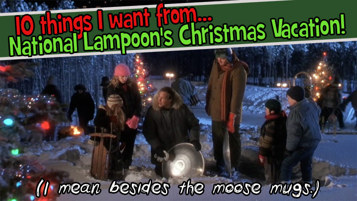 10 Things I Want From Christmas Vacation Dinosaur Dracula