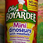 Chef Boyardee's Mini Dinosaurs!