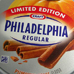 Pumpkin Spice Philadelphia Cream Cheese.
