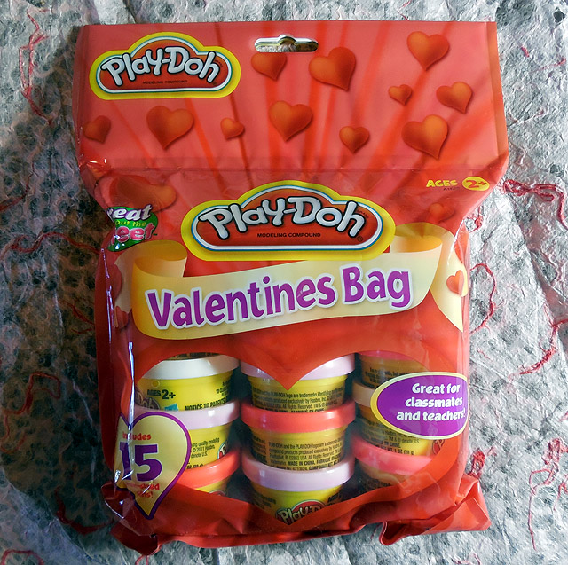 Play Dohs Valentines Bag Puts A Spin On The Traditional Goofy Cards That Kids Trade In School This Valentines Day They Can Instead Give Each Other