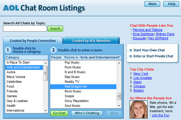 Chat Rooms Like Aol