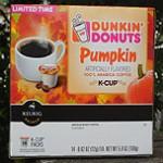 Dunkin' Donuts Pumpkin Coffee K-Cups!
