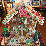 I won a giant gingerbread house.