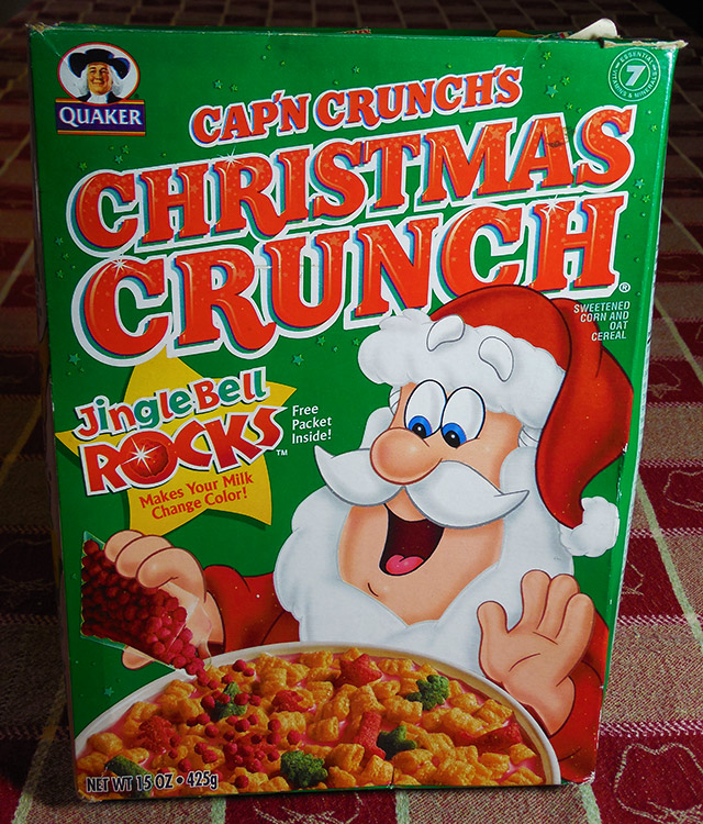 Christmas Crunch Cereal.Christmas Crunch With Jingle Bell Rocks Dinosaur Dracula