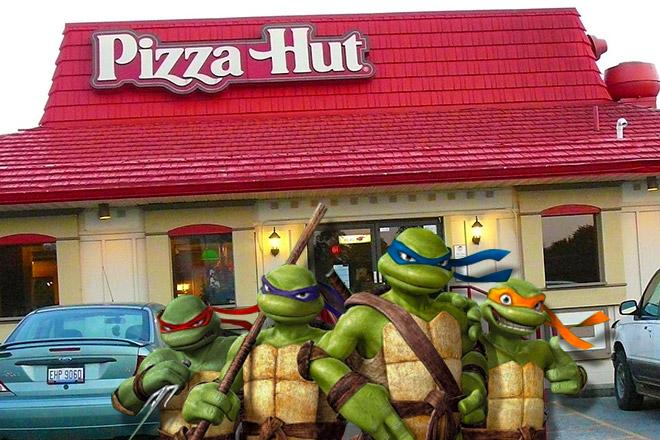 The Ninja Turtles Invade Pizza Hut Dinosaur Dracula