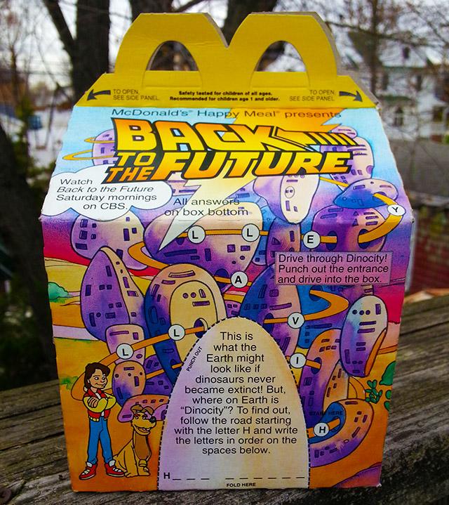 Old Mcdonald S Logo: Five McDonald's Happy Meal Boxes.