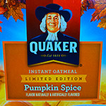 An ode to Pumpkin Spice Quaker Oatmeal.