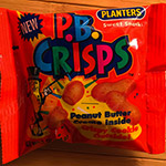 Opening a pack of P.B. Crisps from 1993!