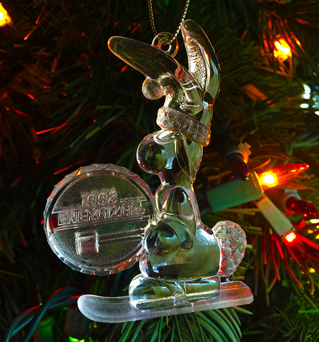 90s Christmas Tree Decorations.Energizer Bunny Ornaments From The 90s Dinosaur Dracula