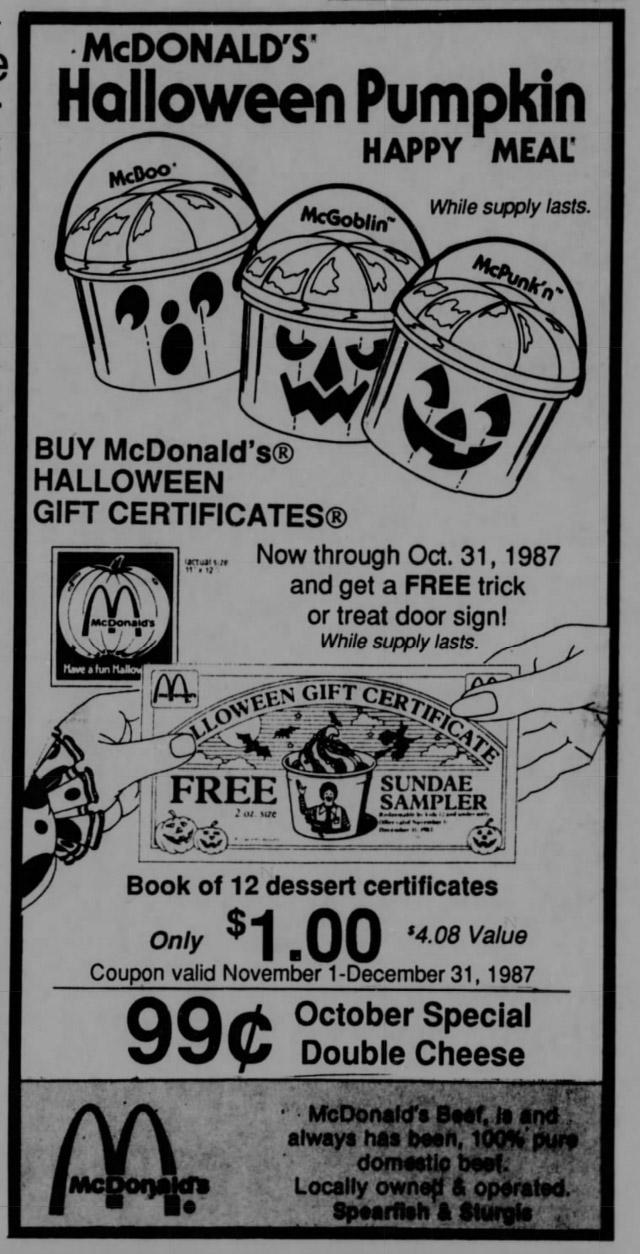 80s and '90s halloween newspaper ads! | dinosaur dracula!