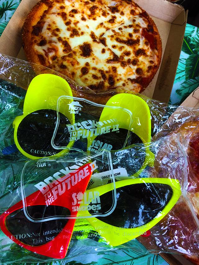 e9dcb5cfb4 Pizza Hut s Back to the Future Solar Shades!
